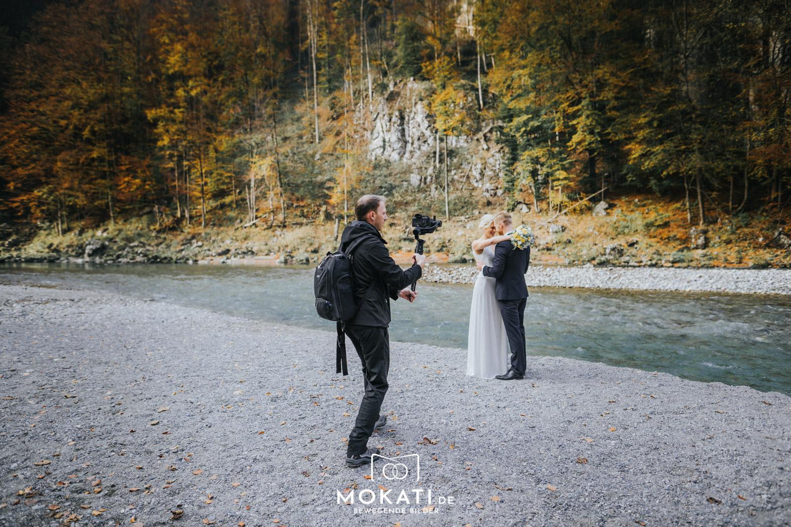 Hochzeitsvideograf Andy als Hochzeitvideograf bei der Hochzeit auf der Wuhrsteinalm