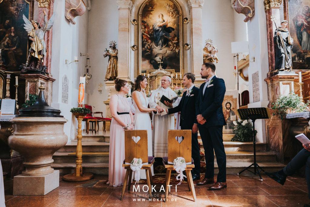 Kirchliche Trauung in Flachau mit Hochzeitsfotograf München