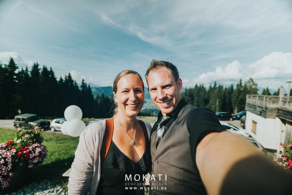 Hochzeitsfotografin Claudia und Hochzeitsvideograf Andy auf der Lisa Alm