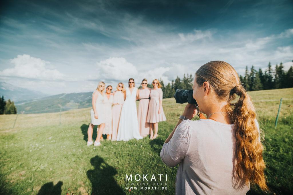 Hochzeitsfotograf Claudia und Hochzeitsfilmer Andy auf der Lisa Alm