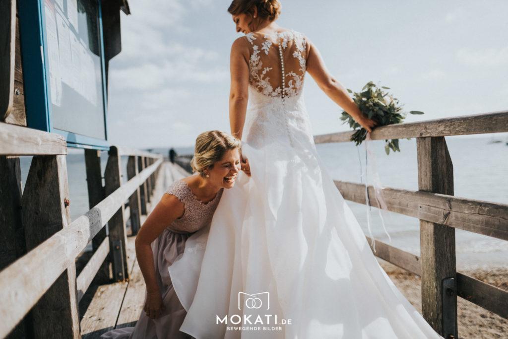 First Look Shooting am Ammersee mit Hochzeitsfotograf und Hochzeitsvideograf aus München
