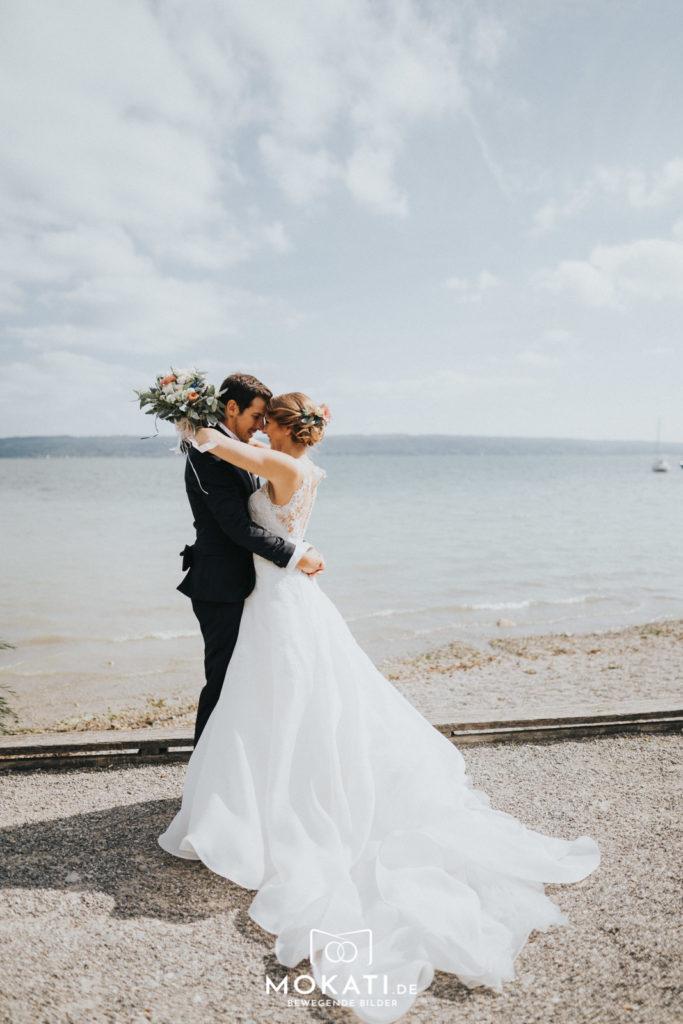 Brautpaarshooting am Ammersee mit Hochzeitsfotografin aus München