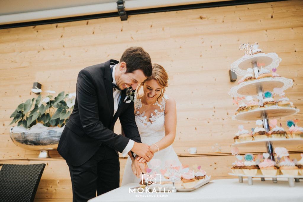 Cupcake Hochzeitstorte im Seehaus am Ammersee mit Hochzeitsfotografin aus München
