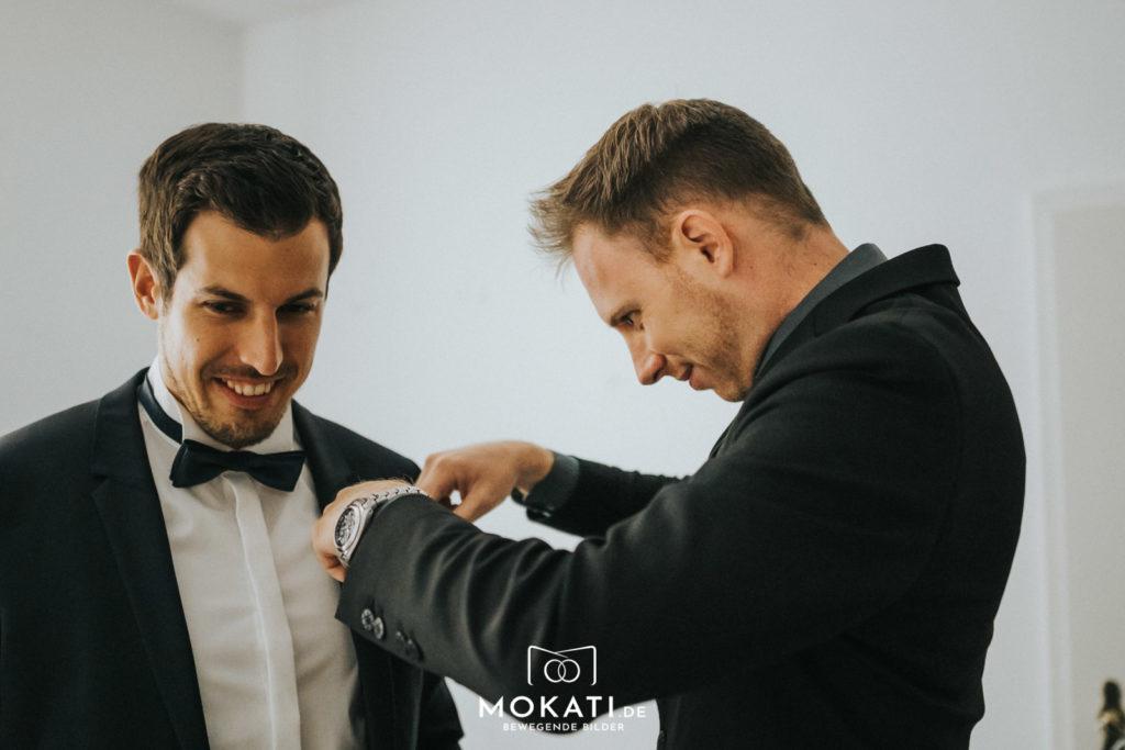 Andy Hochzeitsfilmer beim Getting Ready