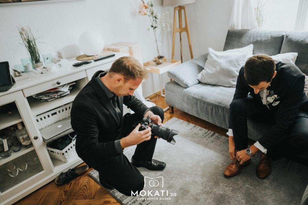 Getting Ready mit Hochzeitsvideograf Andy