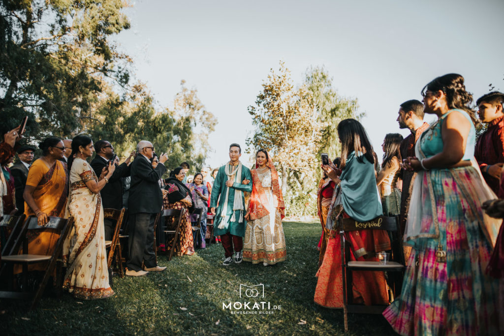 Foto und Film Begleitung an einer Indischen Hochzeit in Los Angeles Kalifornien