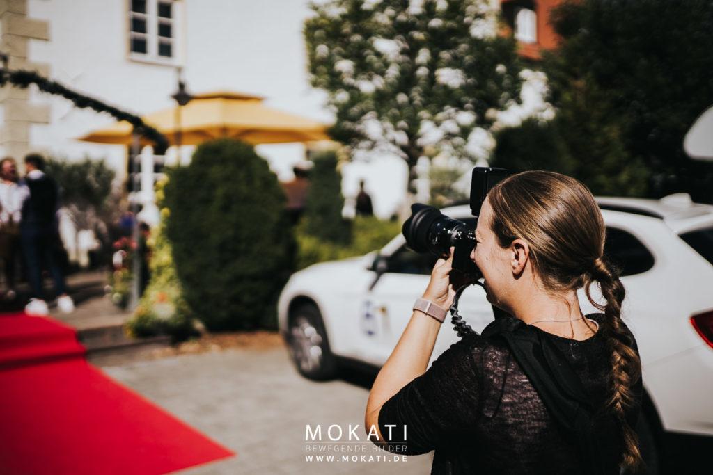 Hochzeitsfotografin München, Claudia im Einsatz