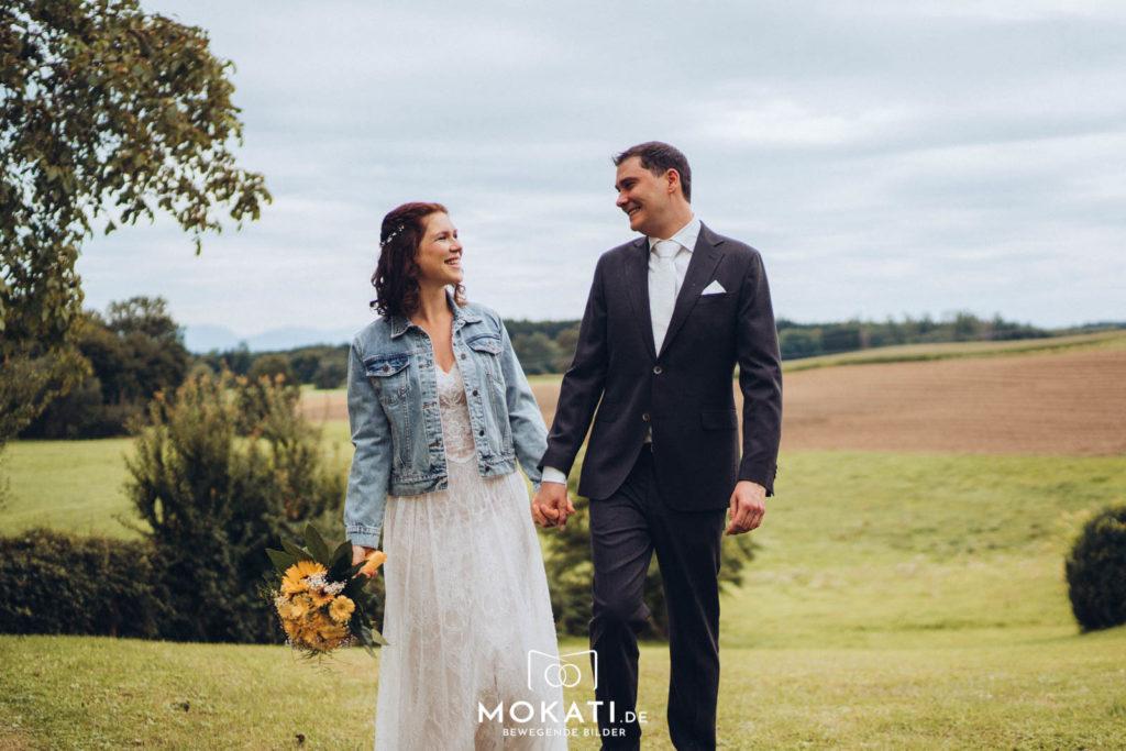 First Look mit Hochzeitsfotograf und Hochzeitsfilmer in Ebersberg bei München