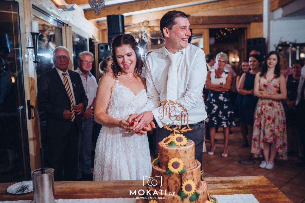 Abendstimmung bei einer Hochzeit vom Hochzeitsfotografen München fotografiert