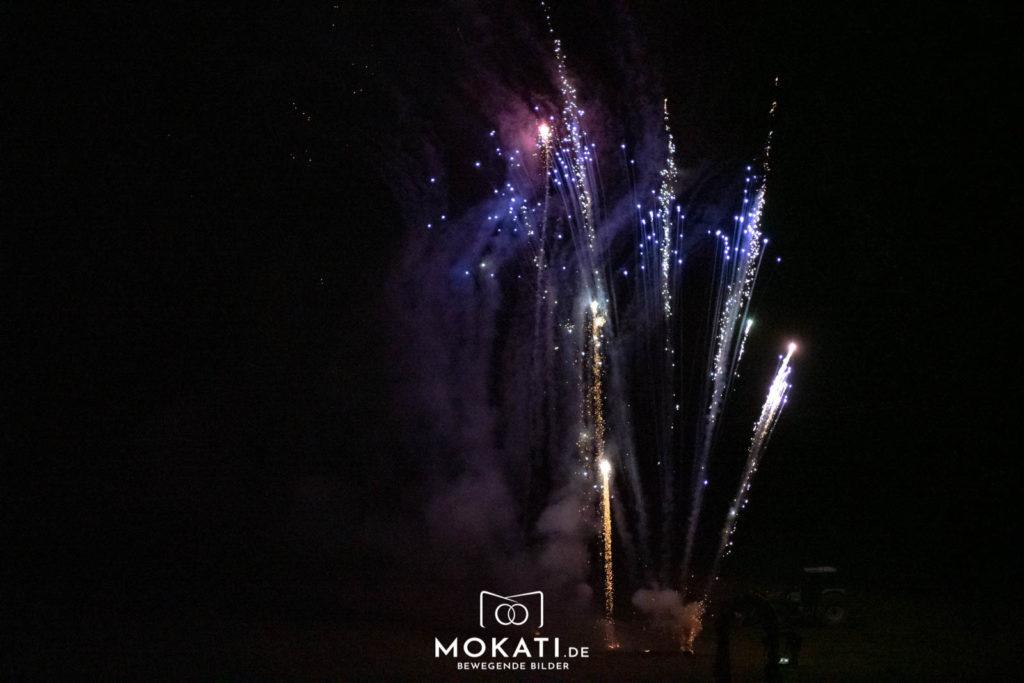 Feuerwerk an der Hochzeit vom Hochzeitsfotograf auf München fotografiert