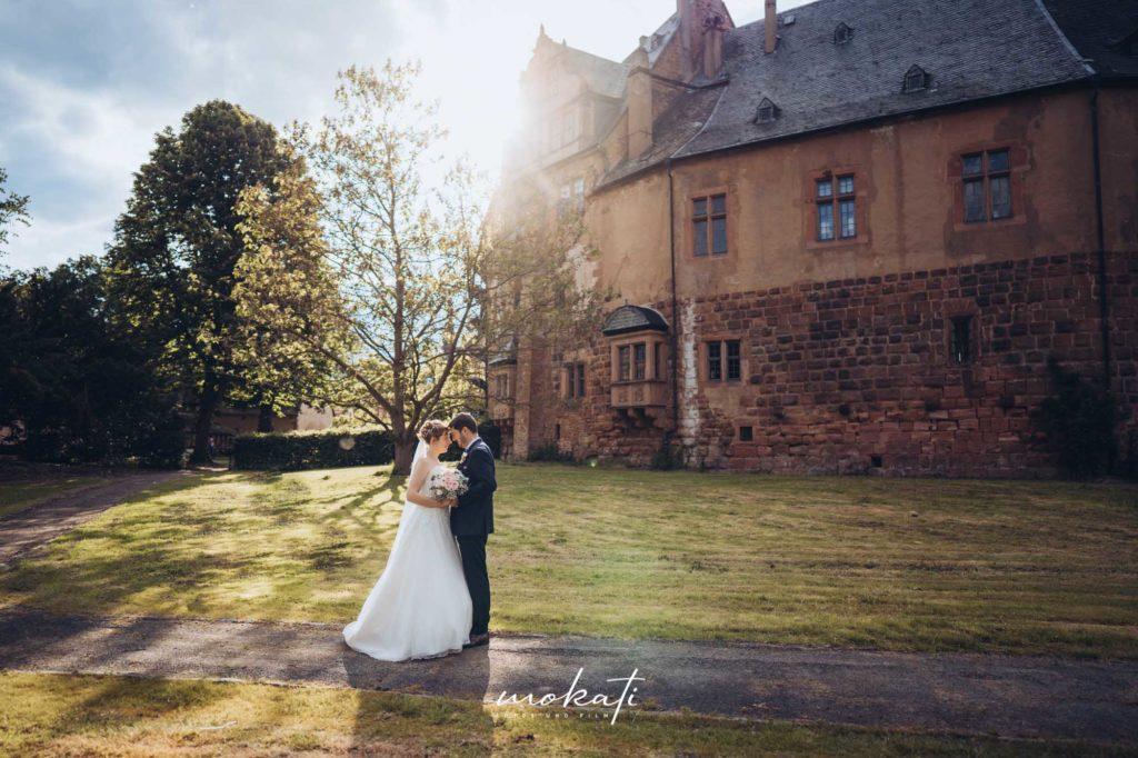 Hochzeitsfotograf München in Hessen auf Schloss Büdingen