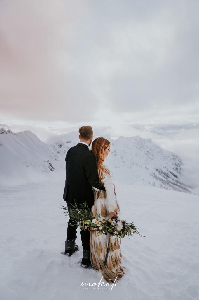 Winterhochzeit in den Bergen