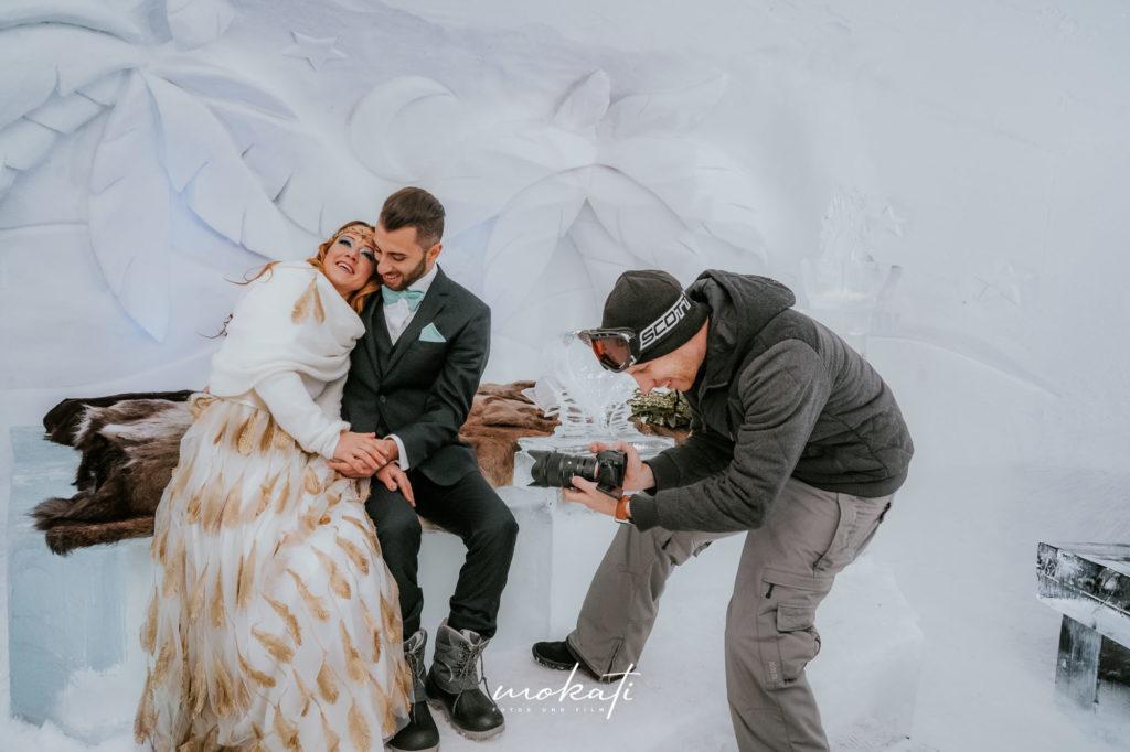 Hochzeitsvideo München bei einer Winterhochzeit in den Bergen