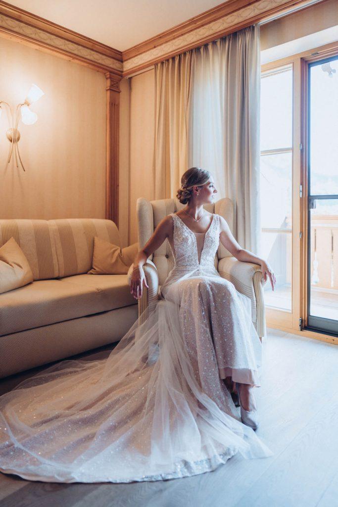 Getting Ready am Schloss Neuschwanstein mit Hochzeitsfotograf München