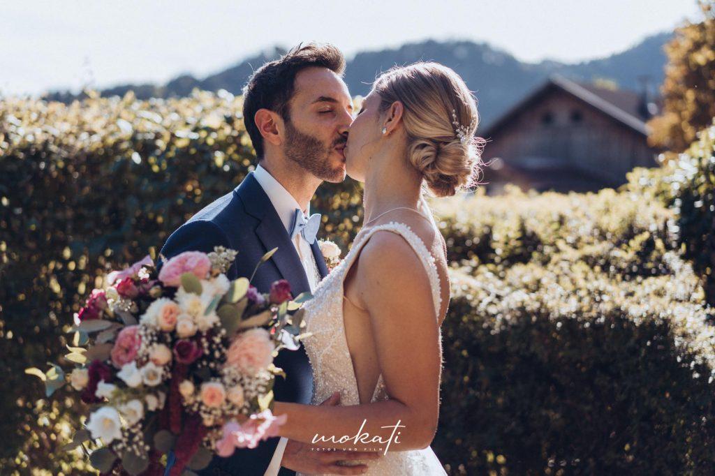 First Look mit Brautpaar in Füssen