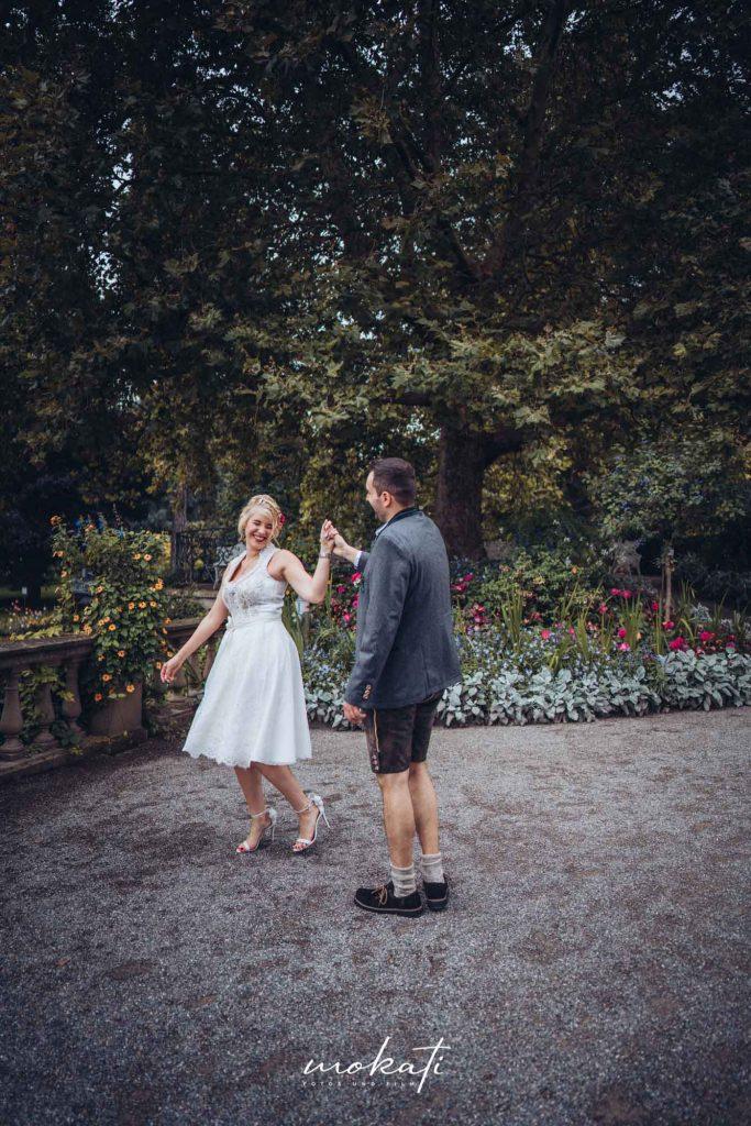 Hochzeitsfotos auf der Insel Mainau mit Hochzeitsvideograf München