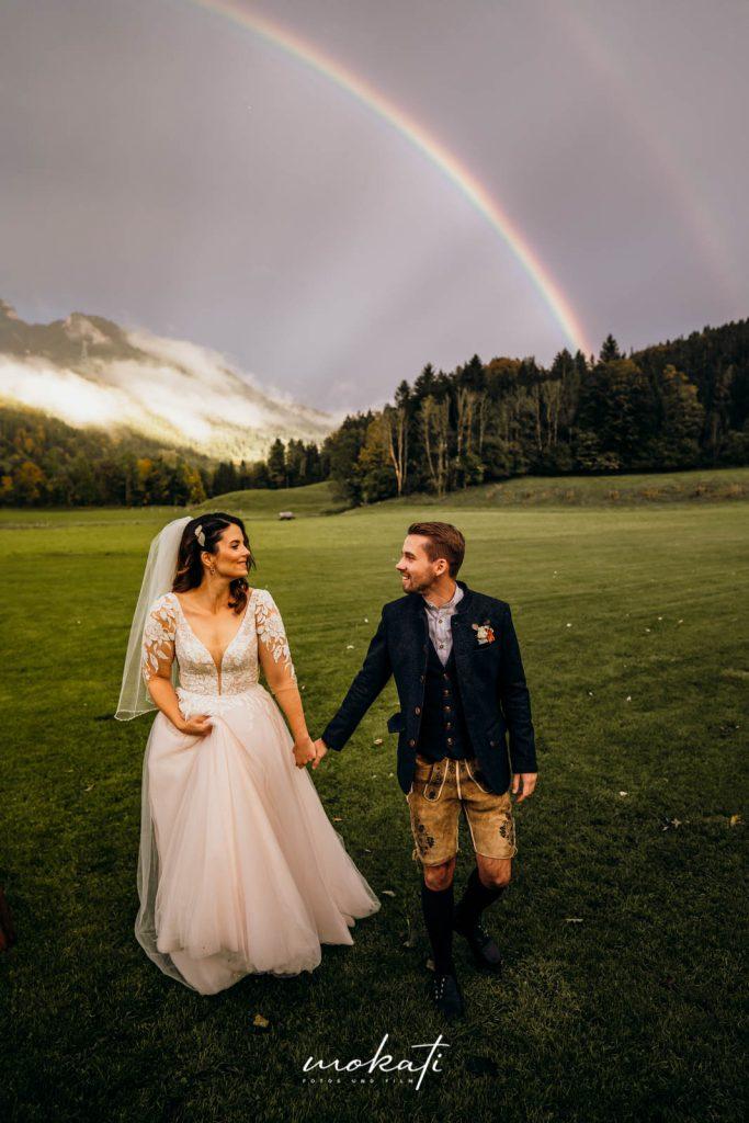 Regenbogen an der Hochzeit