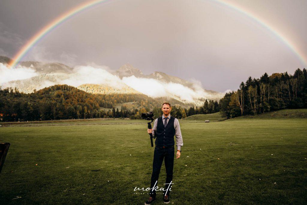 Regenbogenfotos vom Videografen Andy am Hasenöhrlhof