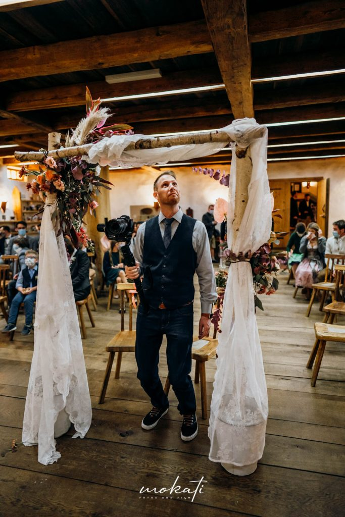 Hochzeitsvideograf Andy im Hasenöhrlhof