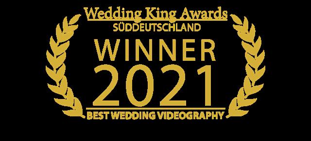 MOKATI hat den nächsten Award gewonnen - Best Wedding Videography 2021 von Wedding King Awards