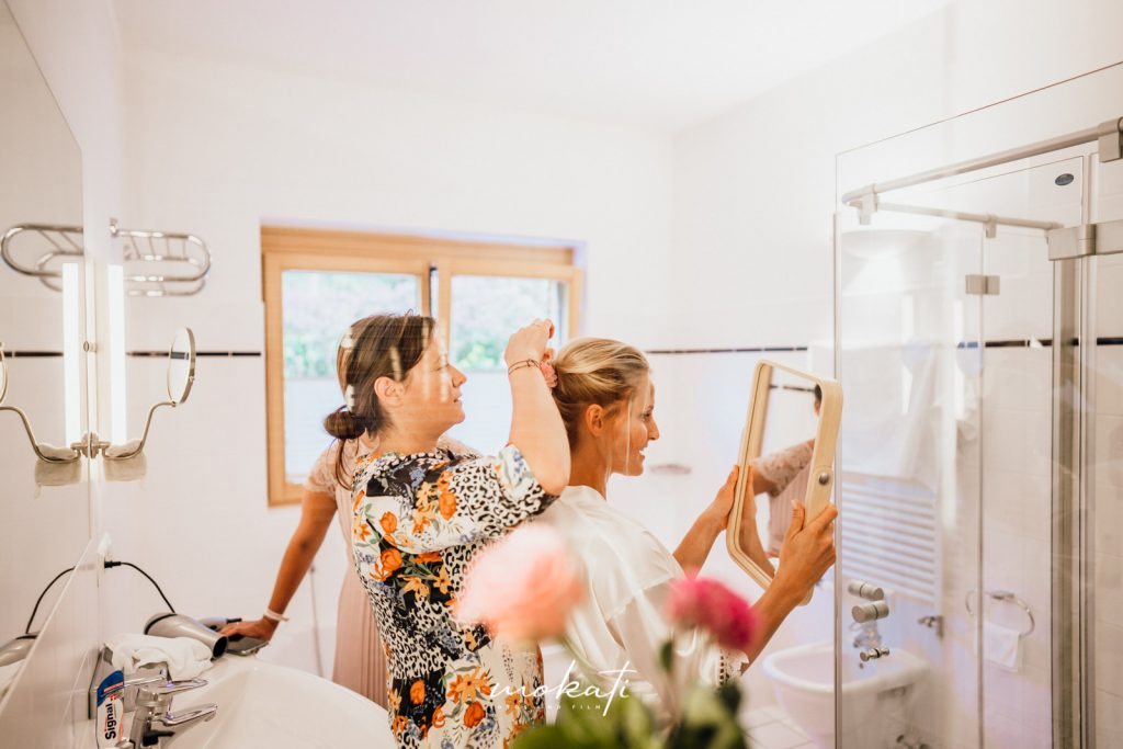 Hochzeitsfotograf München beim Getting Ready