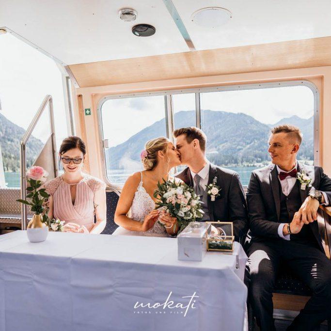 standesamtliche Trauung auf einen Boot